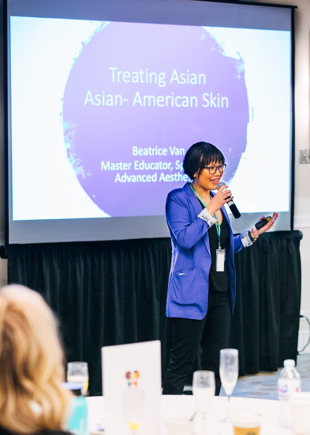 Fearless Beauties Event Photo treating Asian American Skin