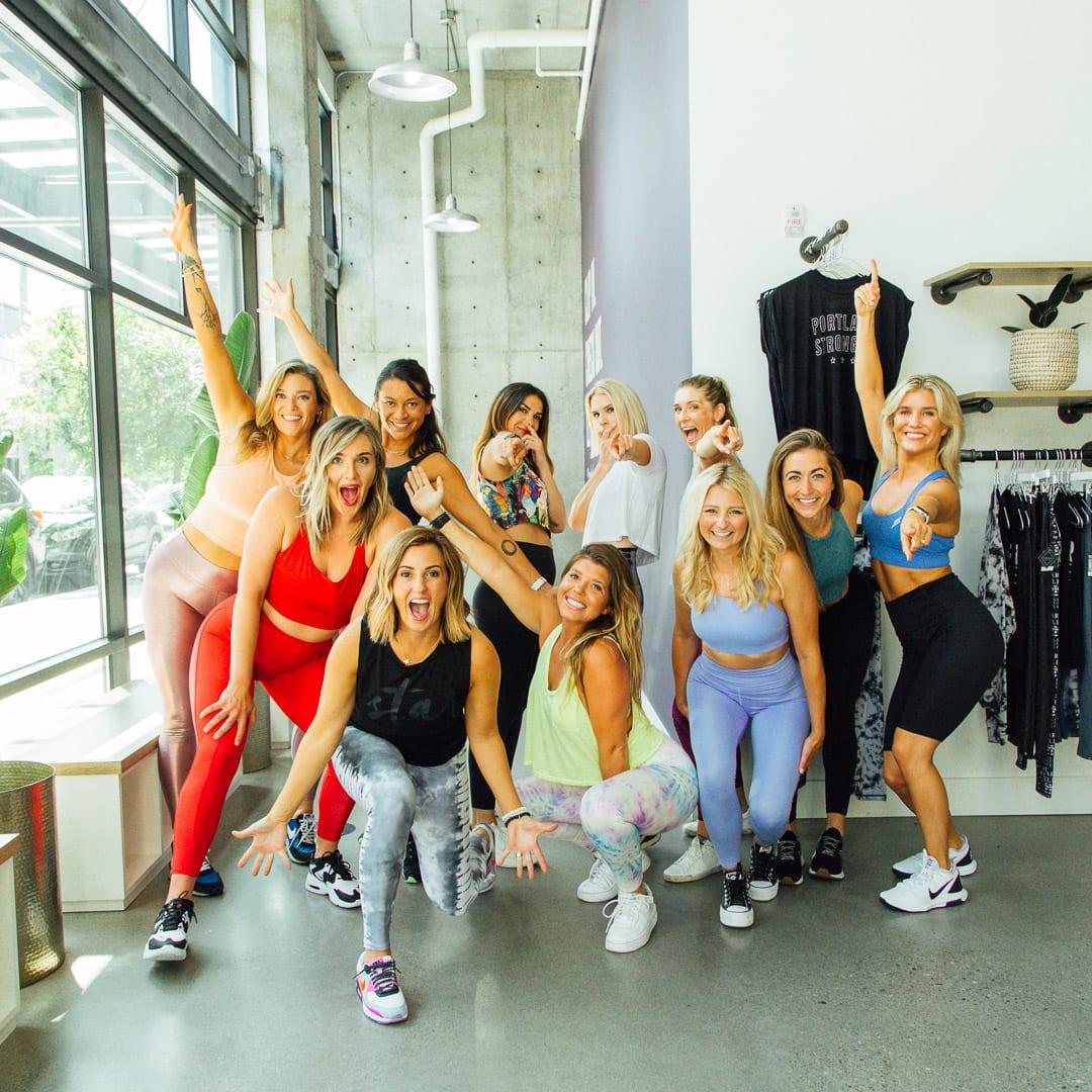 fun group fitness photo female empowerment in Portland, Oregon